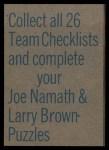 1973 Topps FB Team Checklist #1  Falcons Team Checklist  Back Thumbnail