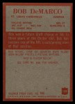 1965 Philadelphia #159   Bob DeMarco Back Thumbnail