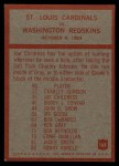 1965 Philadelphia #168   -  Wally Lemm St. Louis Cardinals Back Thumbnail