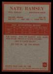 1965 Philadelphia #136  Nate Ramsey  Back Thumbnail