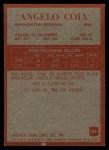 1965 Philadelphia #186  Angelo Coia     Back Thumbnail