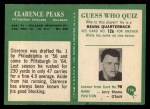 1966 Philadelphia #154   Clarence Peaks Back Thumbnail