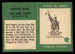 1966 Philadelphia #39  Bears Team  Back Thumbnail