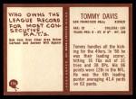 1967 Philadelphia #174   Tommy Davis Back Thumbnail