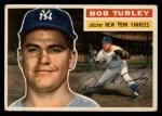 1956 Topps #40   Bob Turley Front Thumbnail