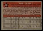 1958 Topps #493  All-Star  -  Bob Turley Back Thumbnail
