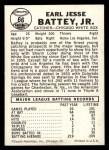 1960 Leaf #66  Earl Battey  Back Thumbnail