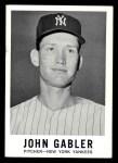 1960 Leaf #62  John Gabler  Front Thumbnail
