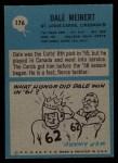 1964 Philadelphia #176  Dale Meinert  Back Thumbnail