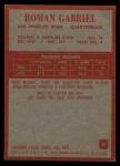 1965 Philadelphia #87   Roman Gabriel  Back Thumbnail