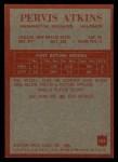1965 Philadelphia #184   Pervis Atkins Back Thumbnail