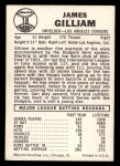 1960 Leaf #18  Jim Gilliam  Back Thumbnail