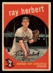1959 Topps #154   Ray Herbert Front Thumbnail