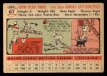 1956 Topps #67   Vic Power Back Thumbnail
