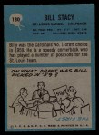 1964 Philadelphia #180  Bill Stacy  Back Thumbnail