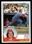 1983 Topps #100   Pete Rose Front Thumbnail