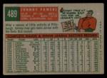 1959 Topps #489   John Powers Back Thumbnail