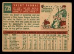 1959 Topps #235  Valmy Thomas  Back Thumbnail