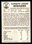 1960 Leaf #42  Andre Rodgers  Back Thumbnail