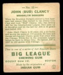 1933 Goudey #32   Bud Clancy Back Thumbnail