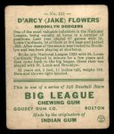 1933 Goudey #151  Jake Flowers  Back Thumbnail