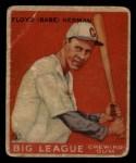1933 Goudey #5   Babe Herman Front Thumbnail