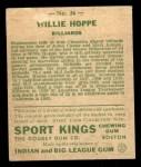 1933 Goudey Sport Kings #36  Willie Hoppe   Back Thumbnail