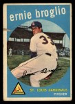 1959 Topps #296   Ernie Broglio Front Thumbnail