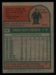 1975 Topps #59  Ken Henderson  Back Thumbnail