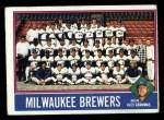 1976 Topps #606  Brewers Team Checklist  -  Alex Grammas Front Thumbnail