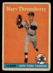 1958 Topps #175   Marv Throneberry Front Thumbnail