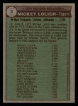 1976 Topps #3  Record Breaker  -  Mickey Lolich Back Thumbnail