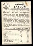 1960 Leaf #44  Tony Taylor  Back Thumbnail