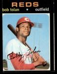 1971 Topps #190  Bobby Tolan  Front Thumbnail