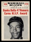 1961 Nu-Card Scoops #420    Ernie Banks  Front Thumbnail