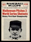 1961 Nu-Card Scoops #477    Christy Mathewson  Front Thumbnail