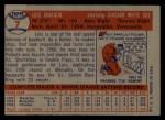 1957 Topps #7   Luis Aparicio Back Thumbnail