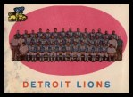1959 Topps #3   Lions Team Checklist Front Thumbnail