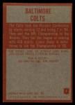 1965 Philadelphia #1   Colts Team Back Thumbnail
