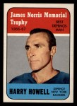 1967 Topps #119  Norris Trophy   -  Harry Howell Front Thumbnail