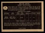 1967 Topps #41   Dallas Smith Back Thumbnail