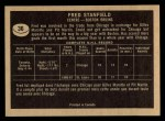 1967 Topps #36   Fred Stanfield Back Thumbnail