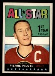 1967 Topps #122  All-Star  -  Pierre Pilote Front Thumbnail