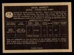 1967 Topps #112   Doug Jarrett Back Thumbnail