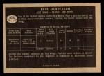 1967 Topps #103   Paul Henderson Back Thumbnail