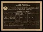 1967 Topps #40  Tom Williams  Back Thumbnail