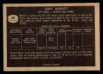 1967 Topps #44   Gary Jarrett Back Thumbnail