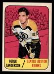 1967 Topps #33   Derek Sanderson Front Thumbnail