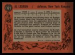 1961 Topps #61  Al Lebrun  Back Thumbnail