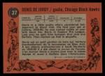1961 Topps #37  Denis DeJordy  Back Thumbnail